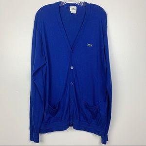 Lacoste Oversized Cardigan Blue Mens XL
